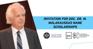 Invitation doc. Dr. M. Malakauskas name scholarships